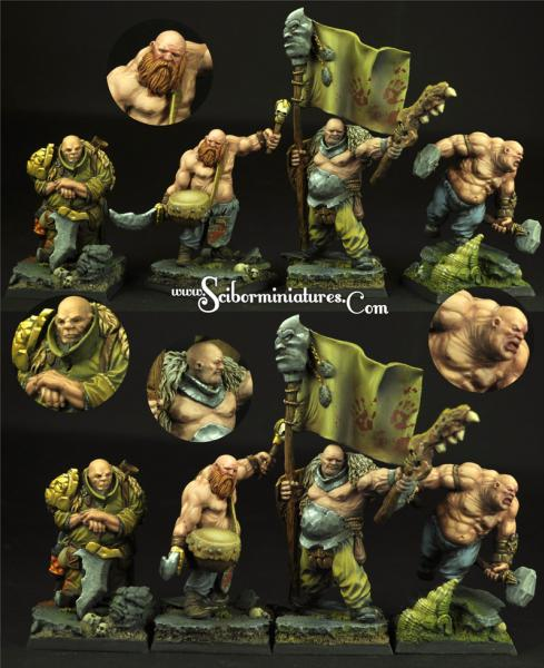 Scibor Monstrous Miniatures: Ogre Cossack Set #2