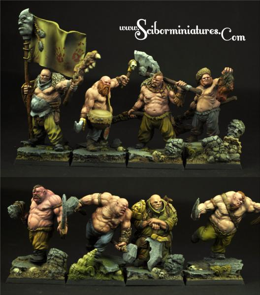 Scibor Monstrous Miniatures: Ogre Cossacks Band (8)