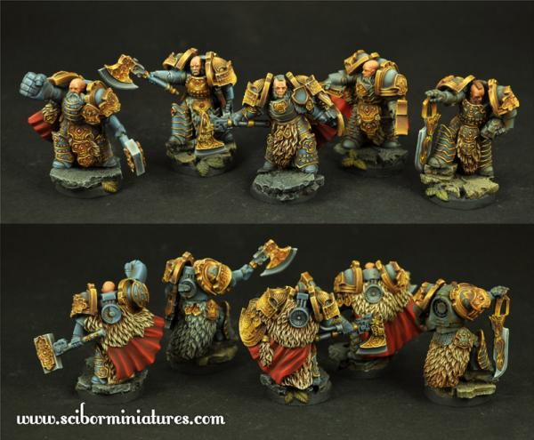 Scibor Monstrous Miniatures: SF Celtic Warriors 5 Miniatures Set