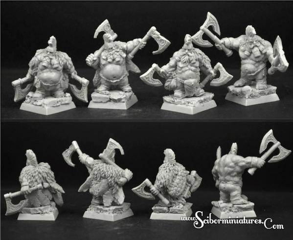 Scibor Monstrous Miniatures: Wild Warriors Dwarves Set #1