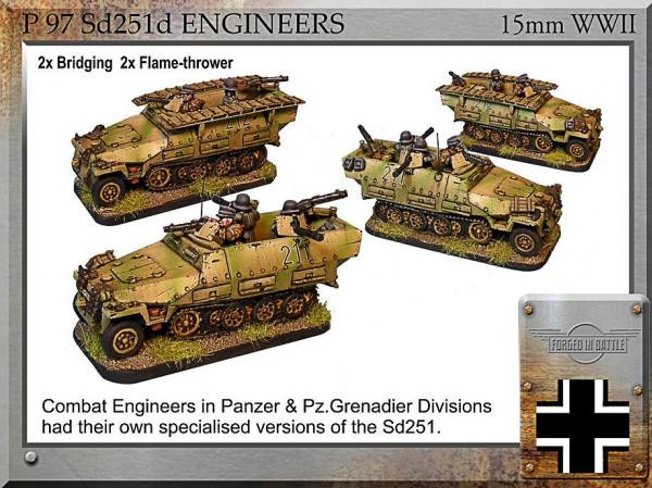 Forged in Battle: German: Sd251d Engineers