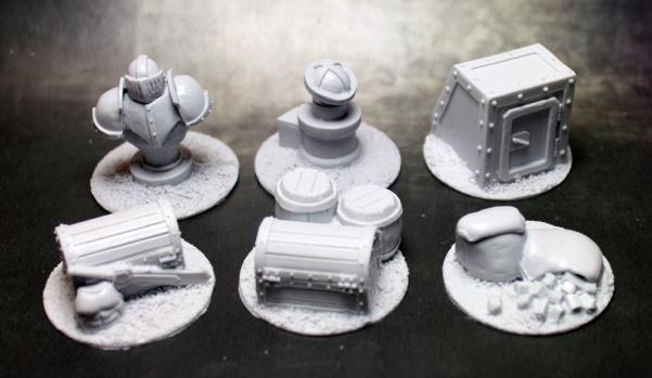 Secret Weapon Miniatures: Objective Markers: 40mm Ironsides Markers