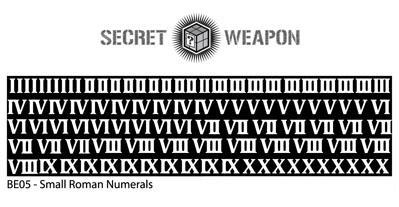 Secret Weapon Miniatures: Photo Etched Brass: Roman Numerals