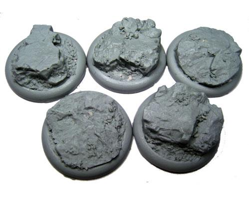 Secret Weapon Miniatures: Rocky Bluff: 40mm Round Lip