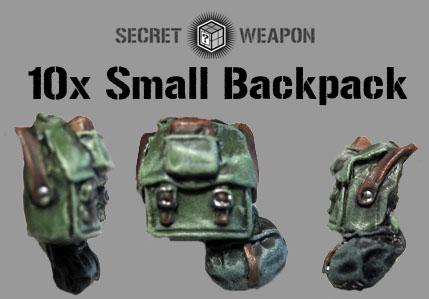 Secret Weapon Miniatures: Small Backpacks (10)