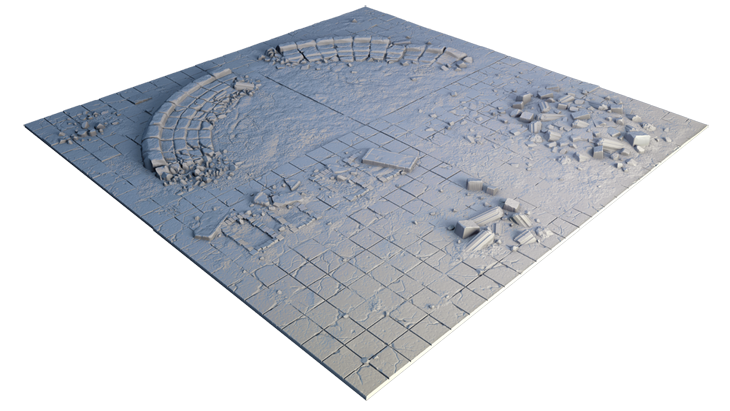 Secret Weapon Miniatures: Tablescapes Display Board: Forgotten City