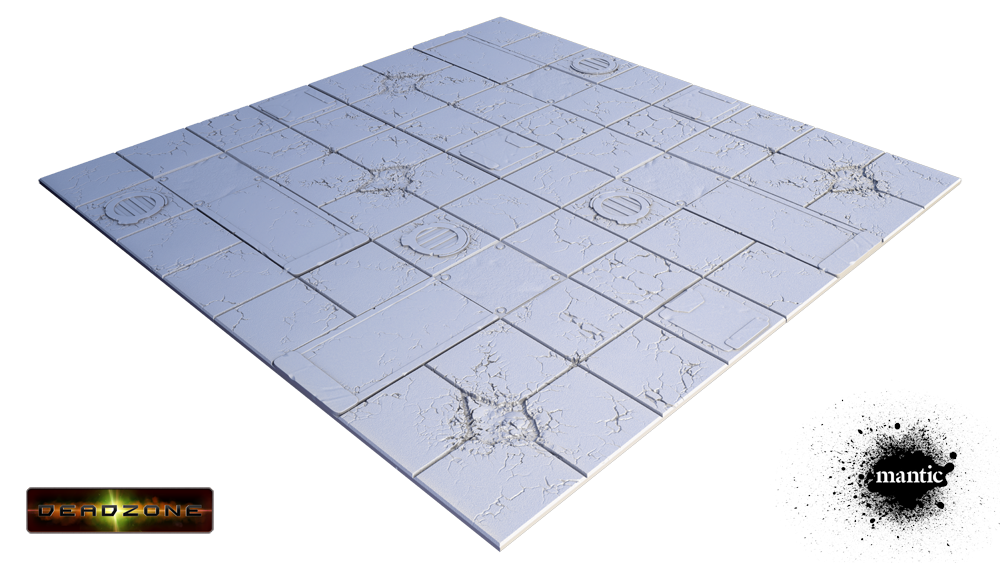 Secret Weapon Miniatures: Tablescapes Tiles Display Board: Deadzone
