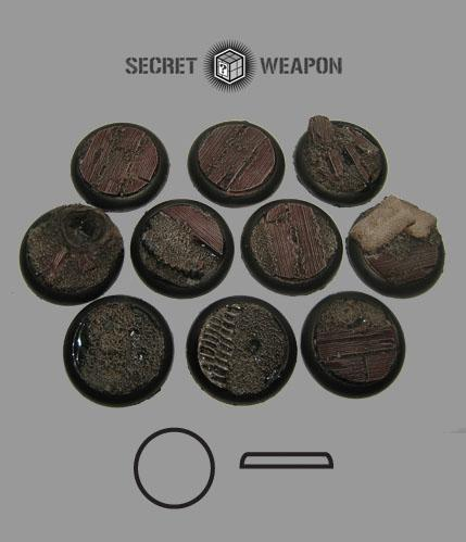 Secret Weapon Miniatures: Trench Works: 30mm Round Lip