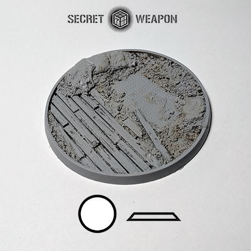 Secret Weapon Miniatures: Trench Works: 80mm Beveled Edge