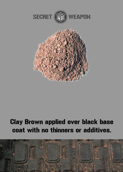 Secret Weapon Miniatures: Weathering Pigments: Clay Brown