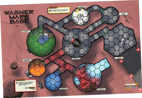 Sentinel Tactics: Wagner Mars Base Playmat [SALE]