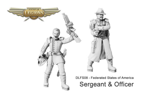 Dystopian Legions: Federated States of America: Sergeant & Officer [SALE]