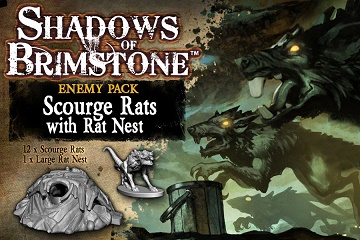 Shadows of Brimstone: Enemy Pack- Scourge Rats with Rat Nest