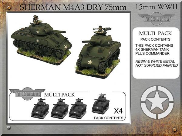 Forged in Battle: USA: Sherman M4A3 dry 75mm (4)