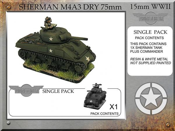 Forged in Battle: USA: Sherman M4A3 dry 75mm (1)