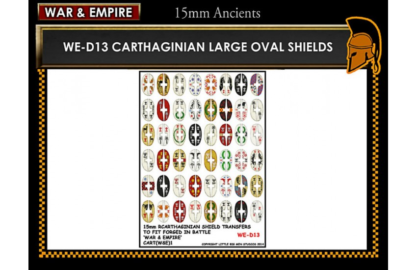 Shield Transfers: Cathaginian large oval shields
