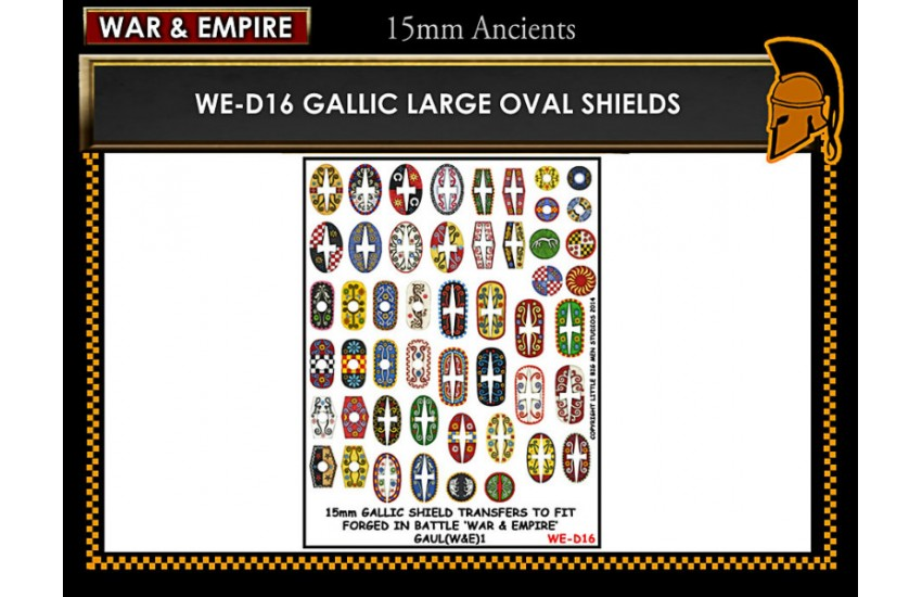 Shield Transfers: Gallic large oval shields