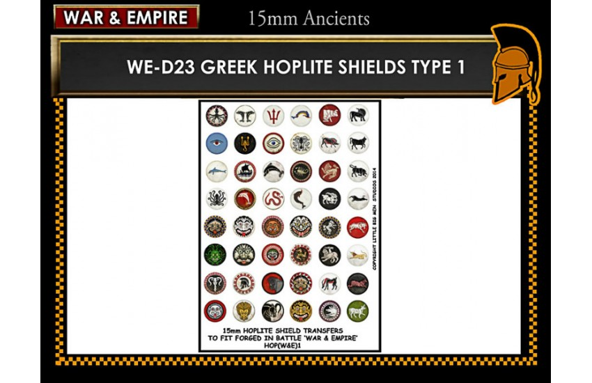 Shield Transfers: Greek Hoplite shields TYPE 1