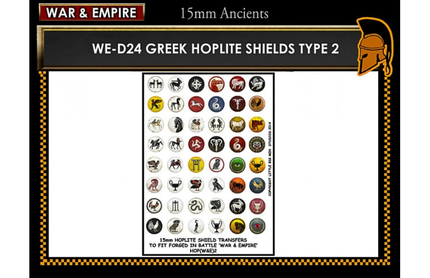 Shield Transfers: Greek Hoplite shields TYPE 2