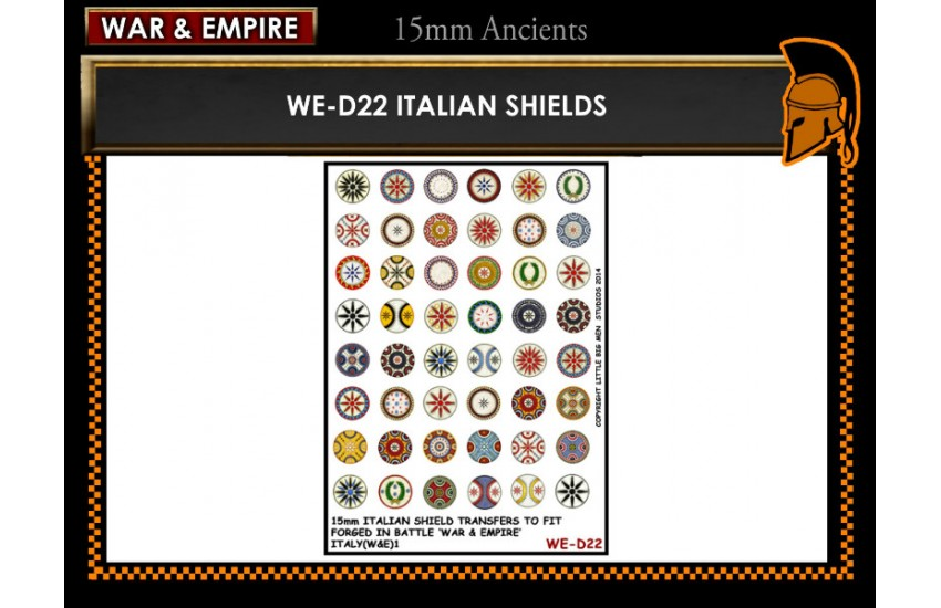 Shield Transfers: Italian shields