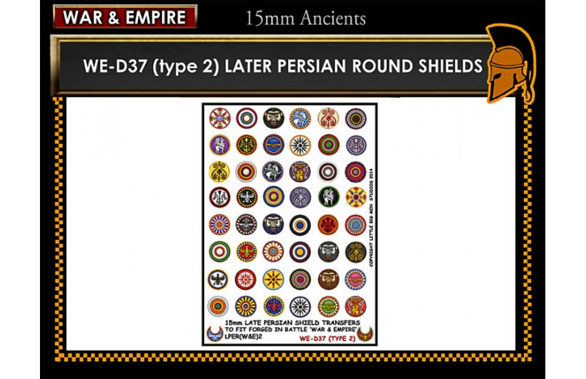 Shield Transfers: Late Persian shields (Type 2)