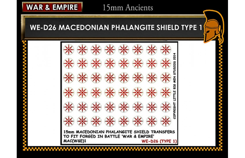 Shield Transfers: Macedonian Pikemen shield transfer TYPE 1