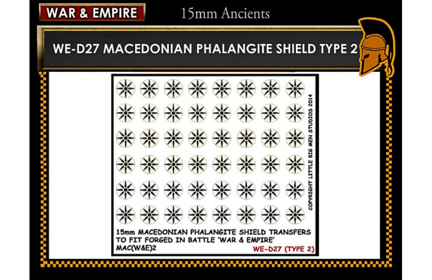 Shield Transfers: Macedonian Pikemen shield transfer TYPE 3