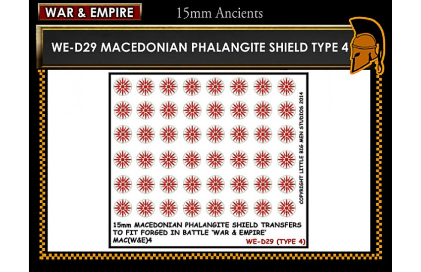 Shield Transfers: Macedonian Pikemen shield transfer TYPE 4