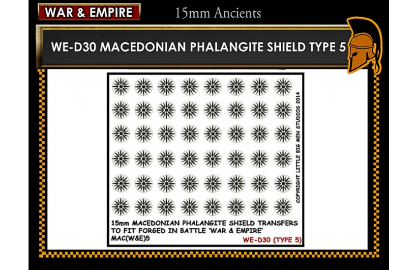 Shield Transfers: Macedonian Pikemen shield transfer TYPE 5