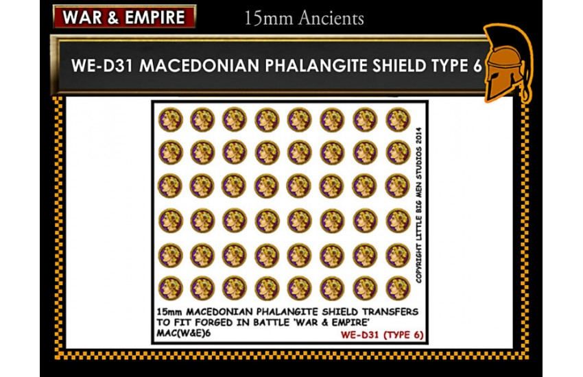 Shield Transfers: Macedonian Pikemen shield transfer TYPE 6