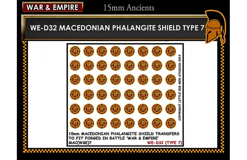 Shield Transfers: Macedonian Pikemen shield transfer TYPE 7