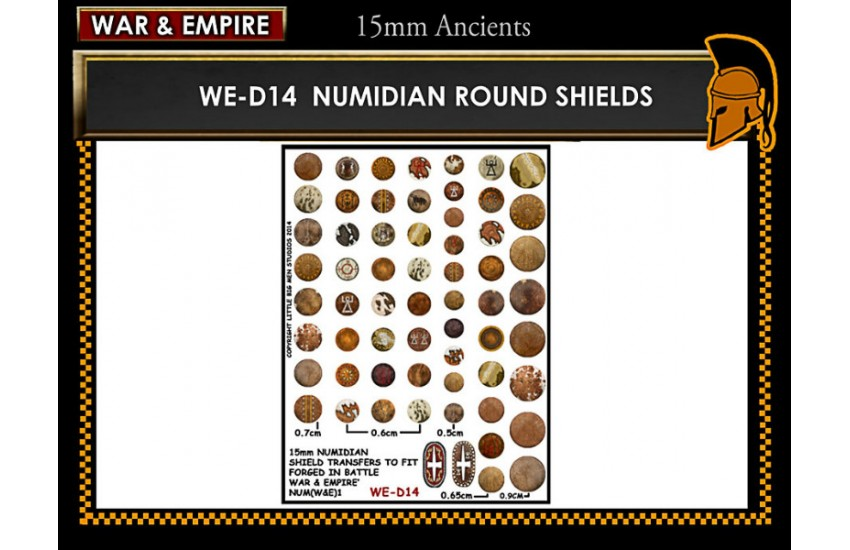 Shield Transfers: Numidian round shields