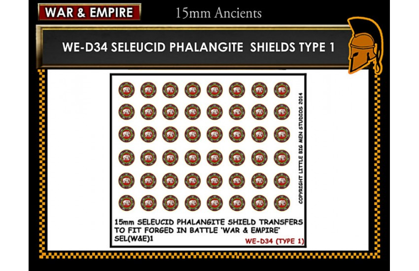 Shield Transfers: Seleucid Phalangite shield TYPE 1