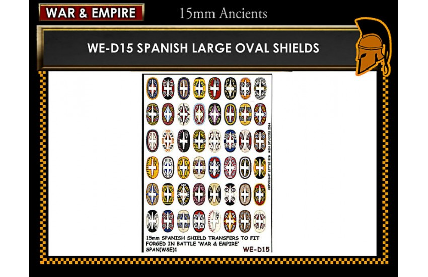Shield Transfers: Spanish large oval shields