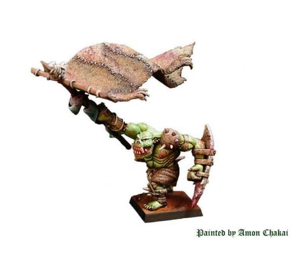 Shieldwolf Miniatures: Mountain Orcs- Army Banner Bearer