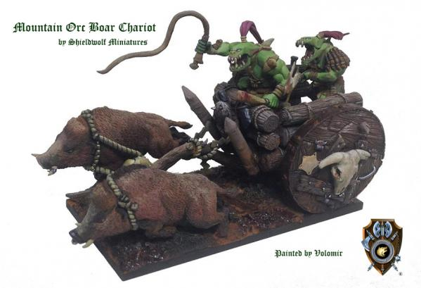 Shieldwolf Miniatures: Mountain Orcs Boar Chariot