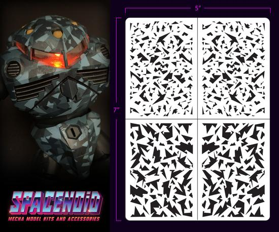Spacenoid Airbrush Mecha Stencil: 1/100 Shard Camo
