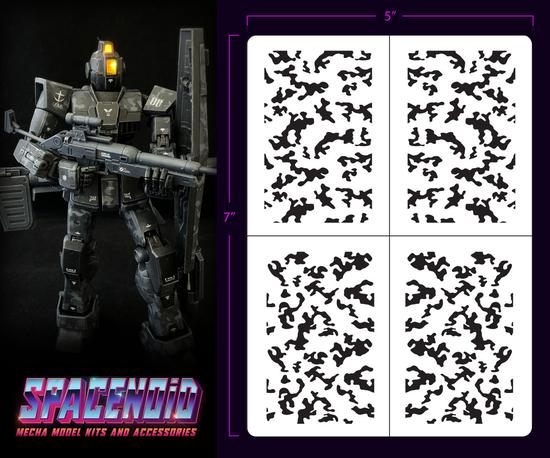 Spacenoid Airbrush Mecha Stencil: 1/100 Traditional Camo