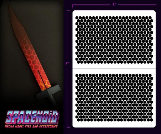 Spacenoid Airbrush Mecha Stencil: Hex Mesh (Small)