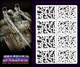 Spacenoid Airbrush Mecha Stencil: 1/144 Shard Camo
