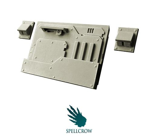 Spellcrow Conversion Bits: Space Knights Armoured Front Plate for Light Vehicles
