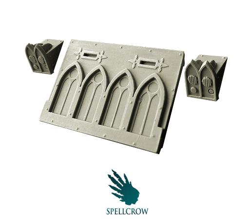 Spellcrow Conversion Bits: Space Knights Gothic Front Plate for Light Vehicles