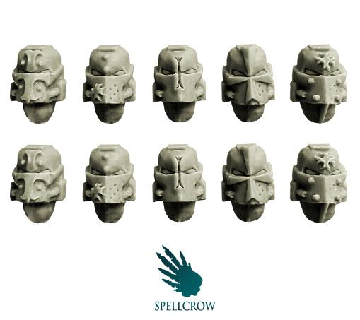 Spellcrow Conversion Bits: Templars Space Knights- Helmets
