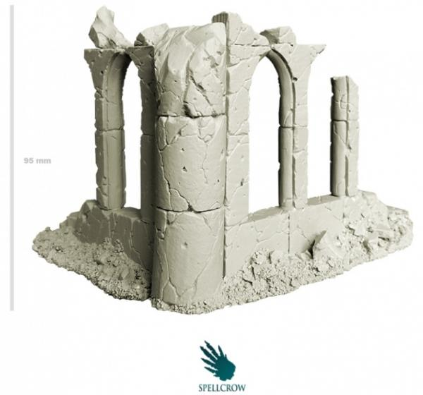 Spellcrow Terrain: Corner of a Ruined Temple