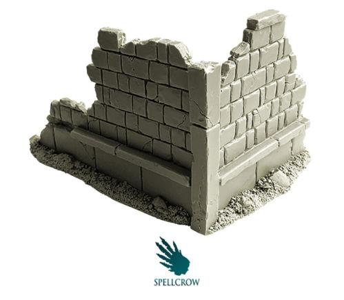 Spellcrow Terrain: Ruined City Walls