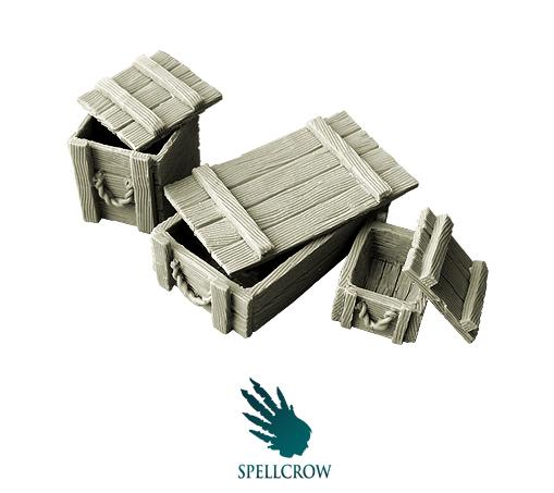 Spellcrow Terrain: Wooden Boxes