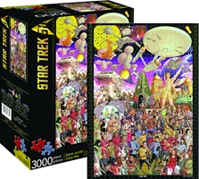 Star Trek 50th Anniversary 3000 Piece Diecut Jigsaw Puzzle
