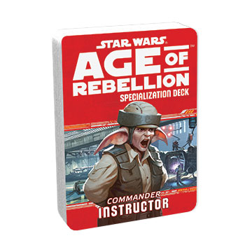 Star Wars Age of Rebellion: Specialization Deck- Commander Instructor