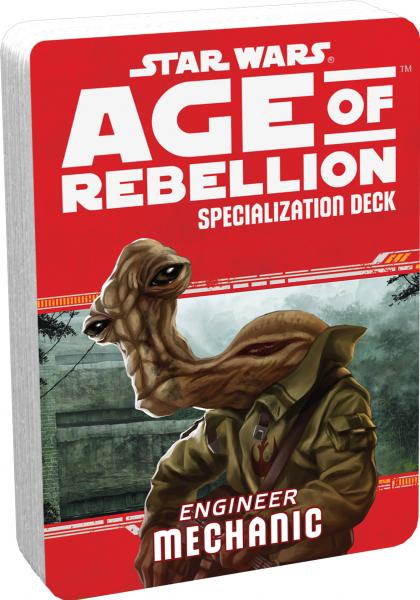 Star Wars Age of Rebellion: Specialization Deck- Engineer Mechanic