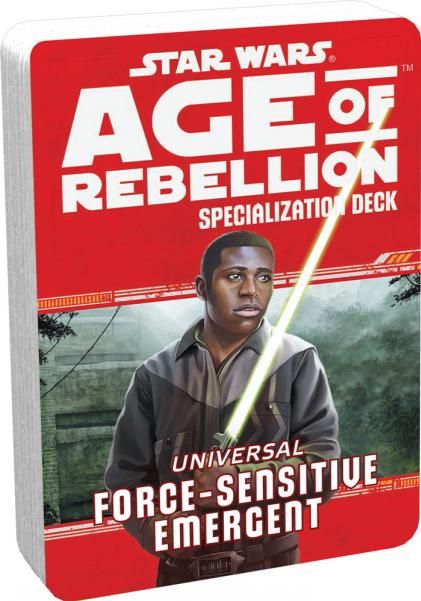 Star Wars Age of Rebellion: Specialization Deck- Universal Force Sensitive Emergent